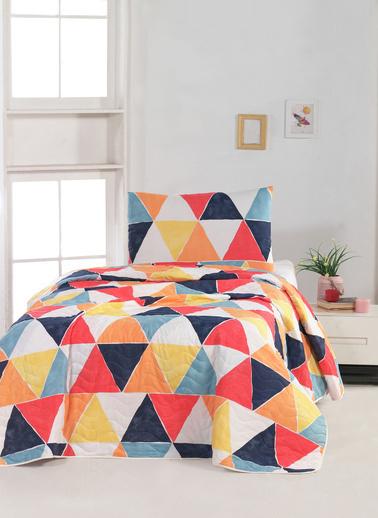 For Home Tek Kişilik Yatak Örtüsü Seti Mikerinos Renkli
